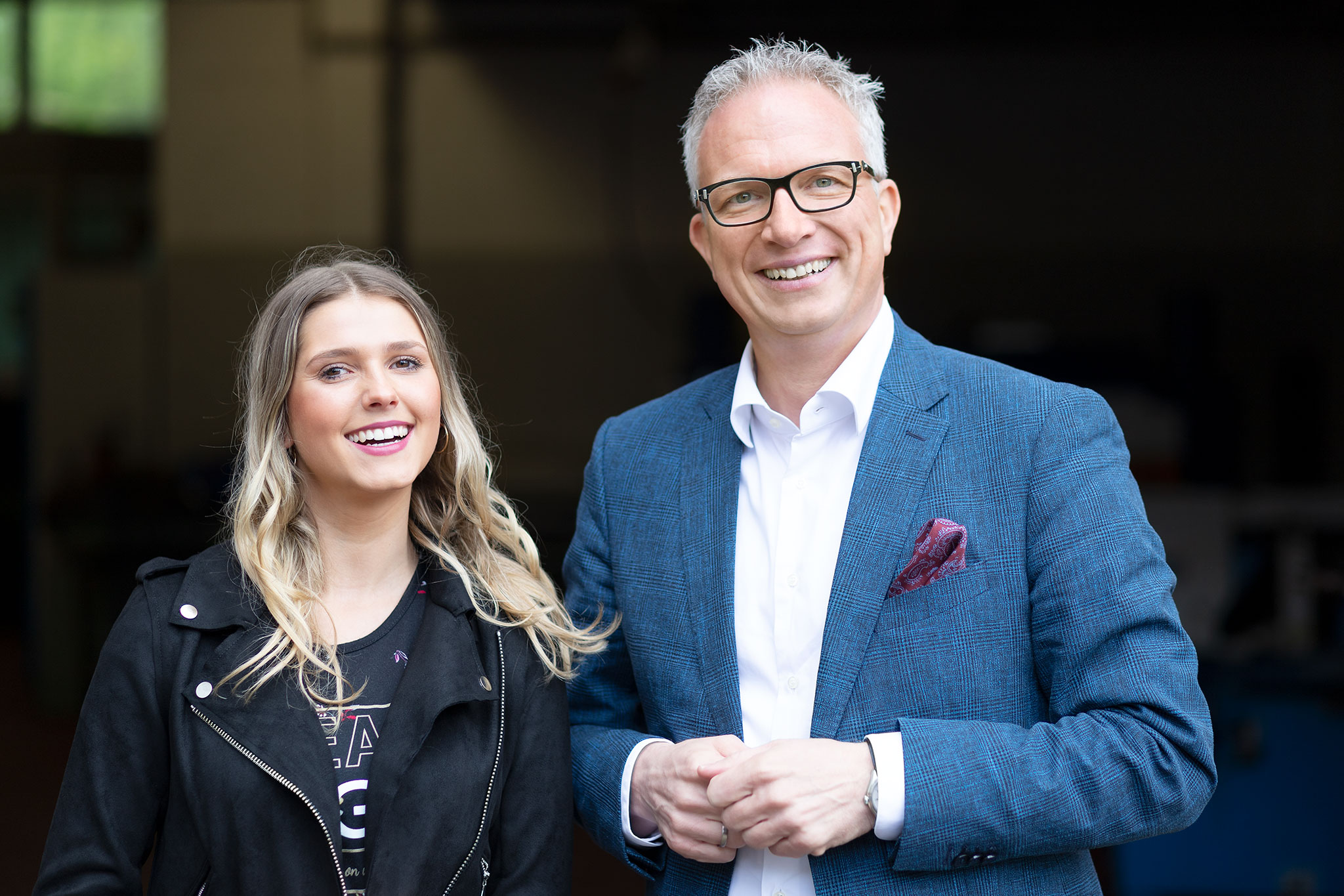 Sarah Liedtke und Hauptgeschäftsführer Frank Tischner