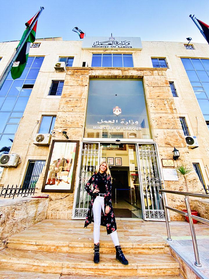 Sarah in Jordanien
